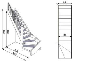 Ruimtebesparend hout for Standaard trap afmetingen